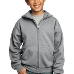 Youth 50/50 Full-Zip Hooded Sweatshirt Thumbnail